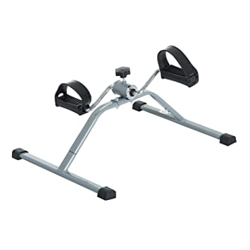 HOMCOM Mini Bicicleta Estática de Acero para Pedalear Aparato de Ejercicios 2 en 1 Brazos y