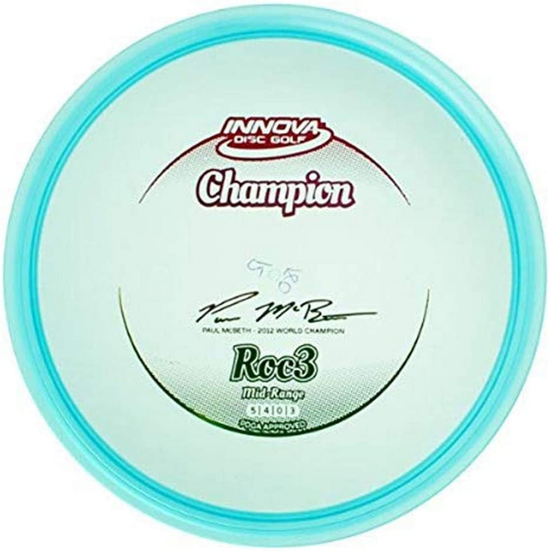 Innova Disc Golf Champion Material Roc 3 Golf Disc (Colors may vary)