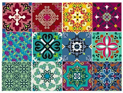 amazon com bruselas decorative tile stickers set 12 units 6x6