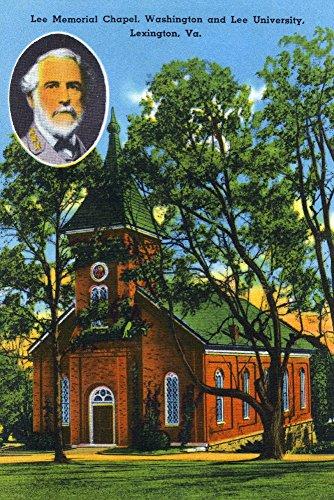 Lexington, VA - Exterior View of the Lee Memorial Chapel, Washington and Lee University (12x18 Fine Art Print, Home Wall Decor Artwork Poster) ()