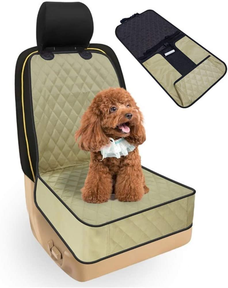 BOENTA Protector Asiento Coche Perro Cubre Asientos Coche Perro Funda de Perro para Asientos de Coche Protector de Botas para Perros Yellow