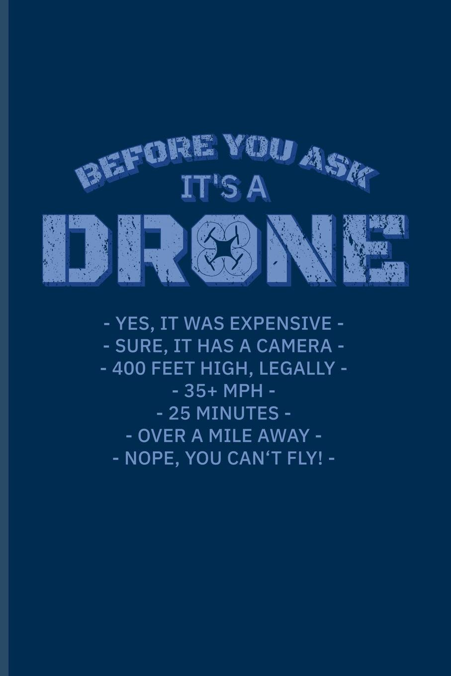 Before You Ask Its A Drone Funny Pilot Quote Journal For