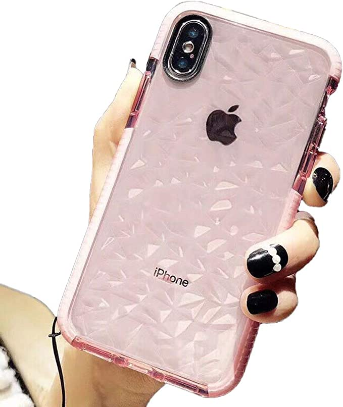 Llz Coque For Iphone Se Case Iphone 5s Clear Case Cute Thin Slim Transparent Silicone Shockproof Bumper Diamante Prism Gel Cover Case For Iphone Se 5s 5 Amazon Co Uk Electronics
