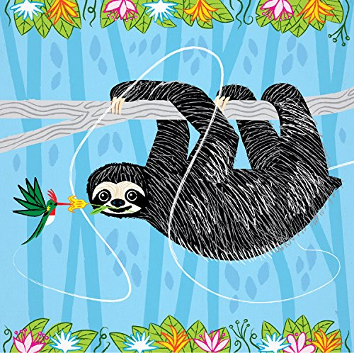 The Sloth And The Hummingbird - Animal Art Poster Print By Oliver Lake -