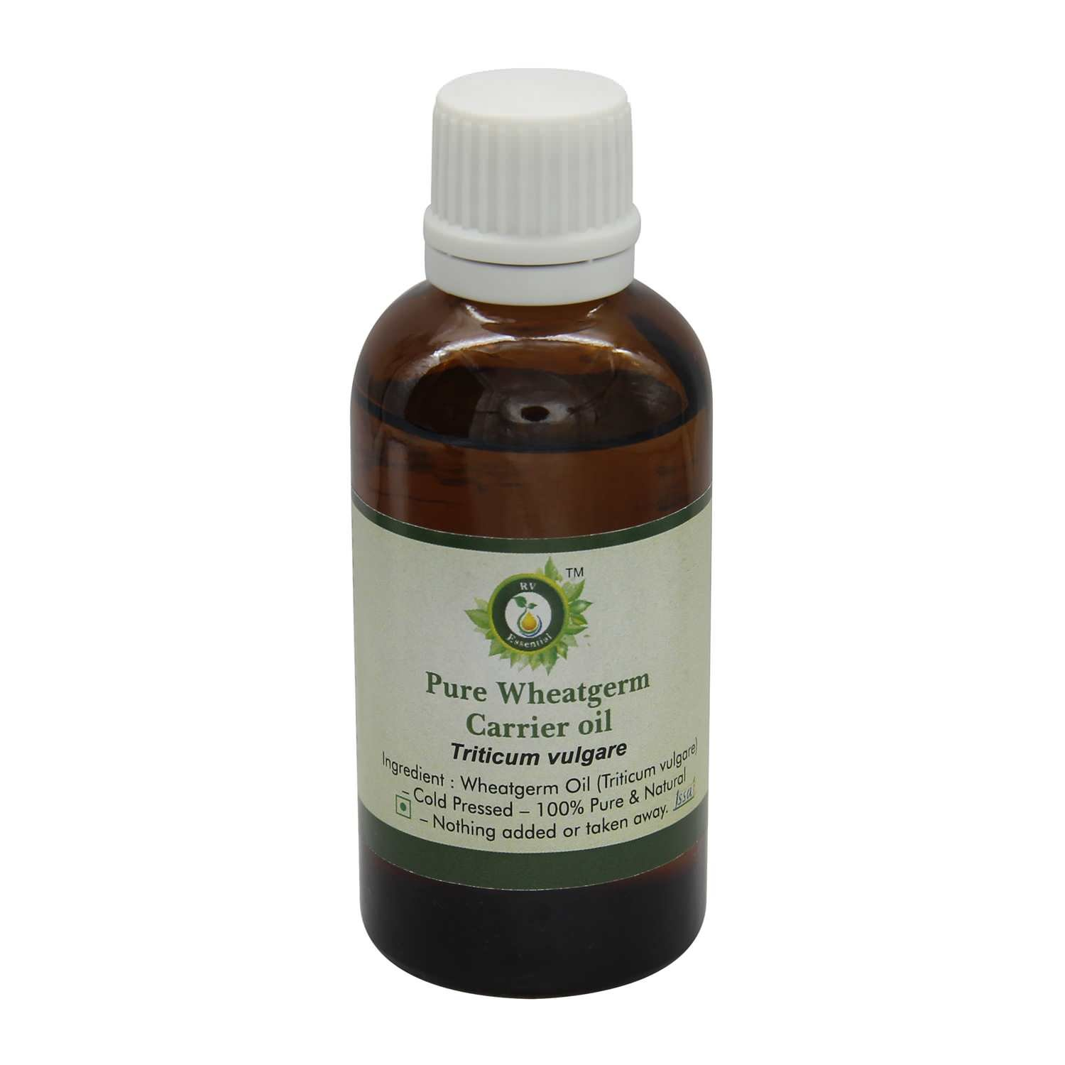 Wheatgerm Oil | Triticum Vulgare | For Hair | For Face | 100% Pure Natural | Cold Pressed Wheatgerm Oil | Wheatgerm Carrier Oil | 630ml | 21oz By R V Essential