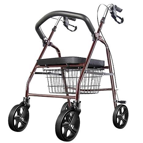 MHO Carro De Compras Portable Plegable Ligero De La Carretilla 4 De La Rueda con El