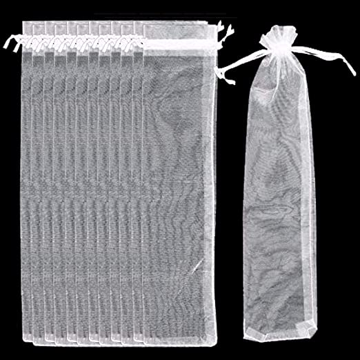 Playstyle 100 bolsas de organza para abanico de 2.4 x 10.6 ...