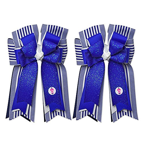 Equestrian Show Bow Set – Premium Handmade by PonyTail Bows – Kat 3 Inch Tail