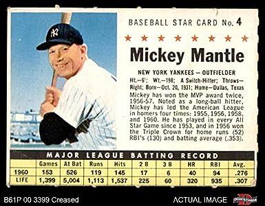 Amazoncom 1961 Post Cereal 4 Com Mickey Mantle New York Yankees