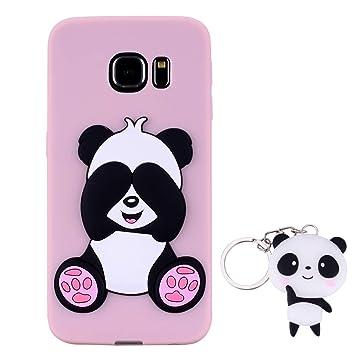 HopMore Panda Funda para Samsung Galaxy S7 Edge Silicona con ...