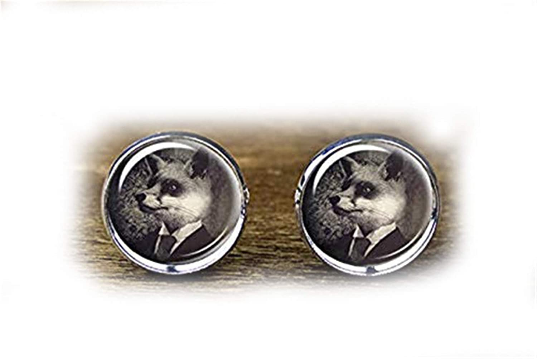 Fox Cufflinks Mr Death Devil Handmade Cuff Links,Fox Cufflinks Fox Accessories,Gift of Love