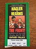 1985 Boxing Ticket Marvin Hagler Vs Tommy Hearns Vintage World Championship