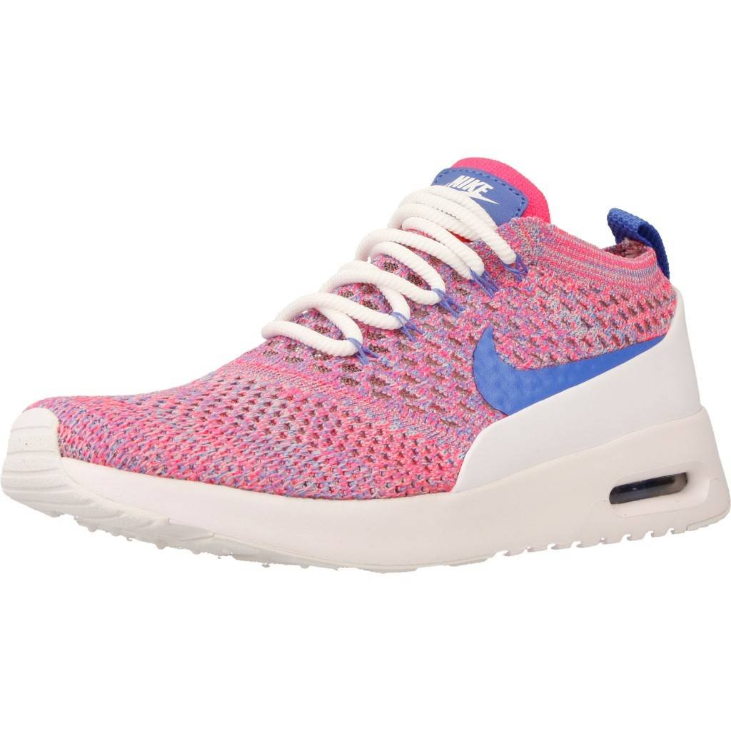 NIKE Women's Air Max Thea Ultra FK Running Shoe B072FSZQWG 6 B(M) US|White/Medium Blue-racer Pink