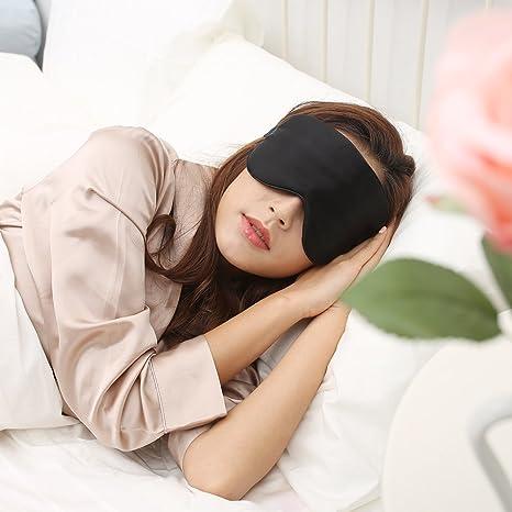 Amazon.com: Máscara de ojo calefactada USB de seda de sueño ...