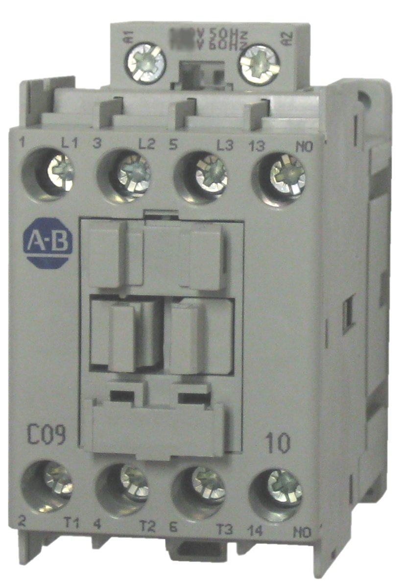 Allen Bradley 100 C09l10 3 Pole 9 Amp Contactor With A 208 240 Volt 230v Phase Wiring 50 60hz Ac Coil And 1 Normally Open Base Mounted Contact Industrial