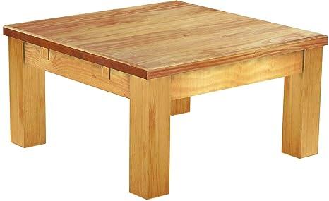 Brasilmöbel Couchtisch Rio Classico 73x73 cm Honig Wohnzimmertisch Holz  Tisch Pinie Massivholz Stubentisch Beistelltisch Echtholz Größe und Farbe  ...