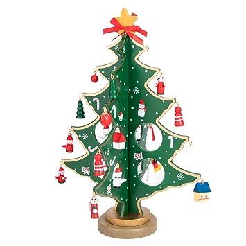Imagenes Animadas Arboles Navidad.Arbol De Navidad De Madera Bricolaje Dibujos Animados Navidad Ornamento En Miniatura Regalo Mesa Escritorio Decoracion Decoracion De La Navidad Para