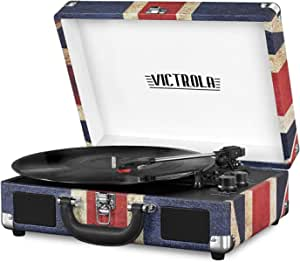 Victrola Vintage Bluetooth Portable Suitcase Record Player with Built-in Speakers, 1SFA (VSC-550BT-UK)