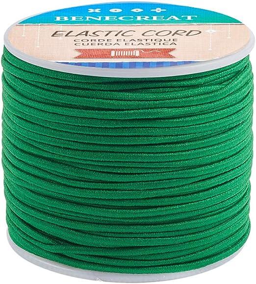 BENECREAT 2mm Elastic Cord Stretch Faden Perlen Schnur Stoff Crafting String f/ür DIY Handwerk Armb/änder Halsketten Purple 50m