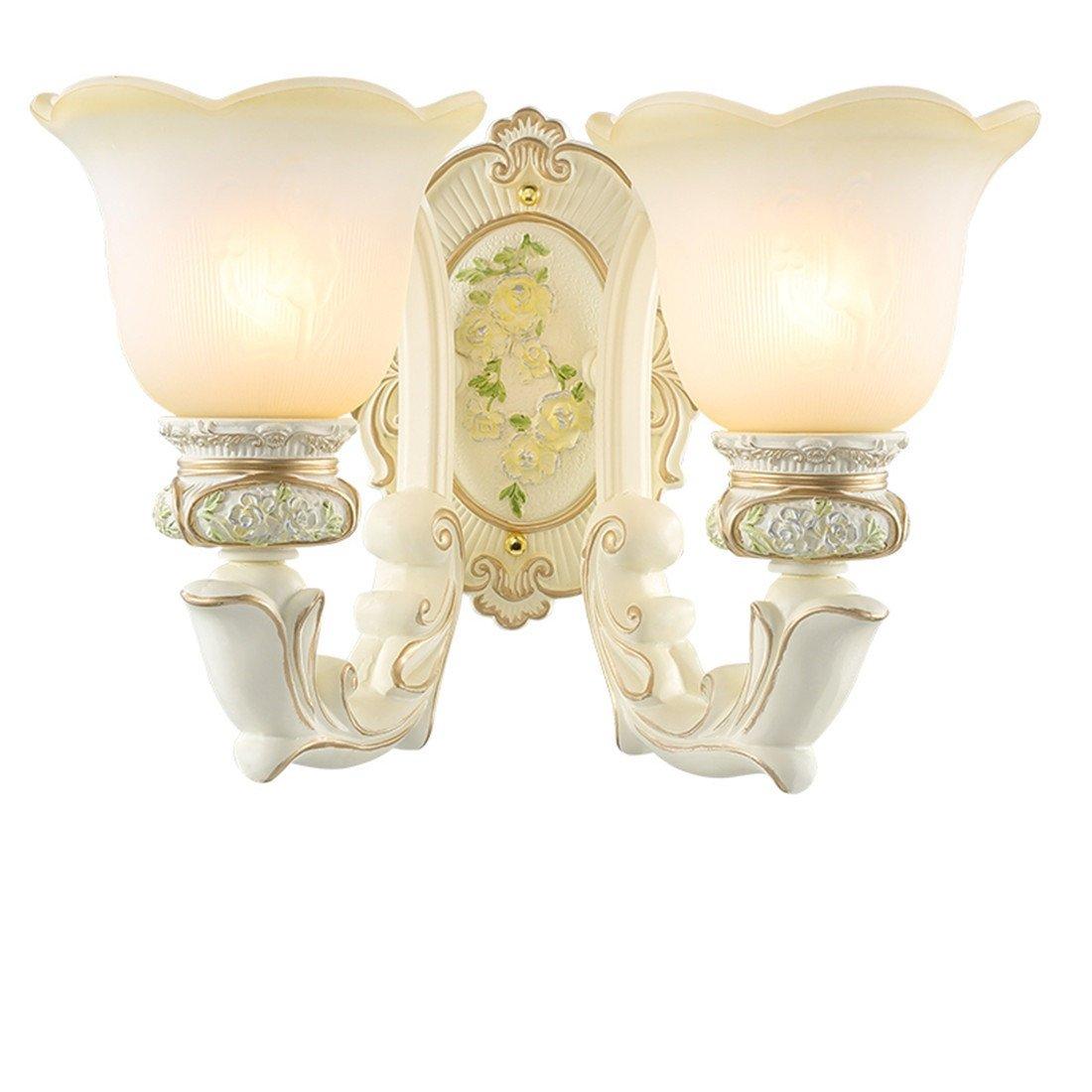 MMYNL  Wandleuchte Schlafzimmer Wand Lampe Nachttischlampe Wohnzimmer Lampe Wandleuchte Treppe Lampe Gang Lampe E 27,2 Kopf, W36H 27 cm