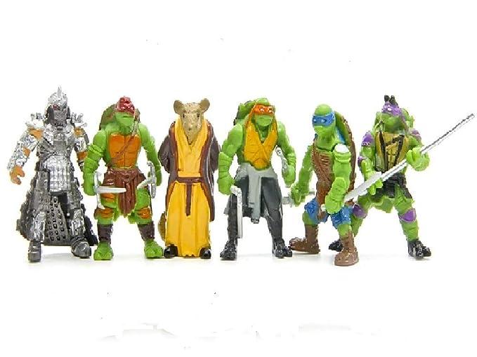 Teenage Mutant Ninja Turtles Tortugas Ninja, 6 Figuras - 5 ...