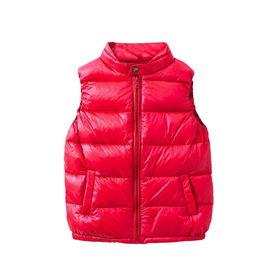 Toddler Boys Girls Winter Outwear Jacket Coat Lightweight Down Puffer Vest