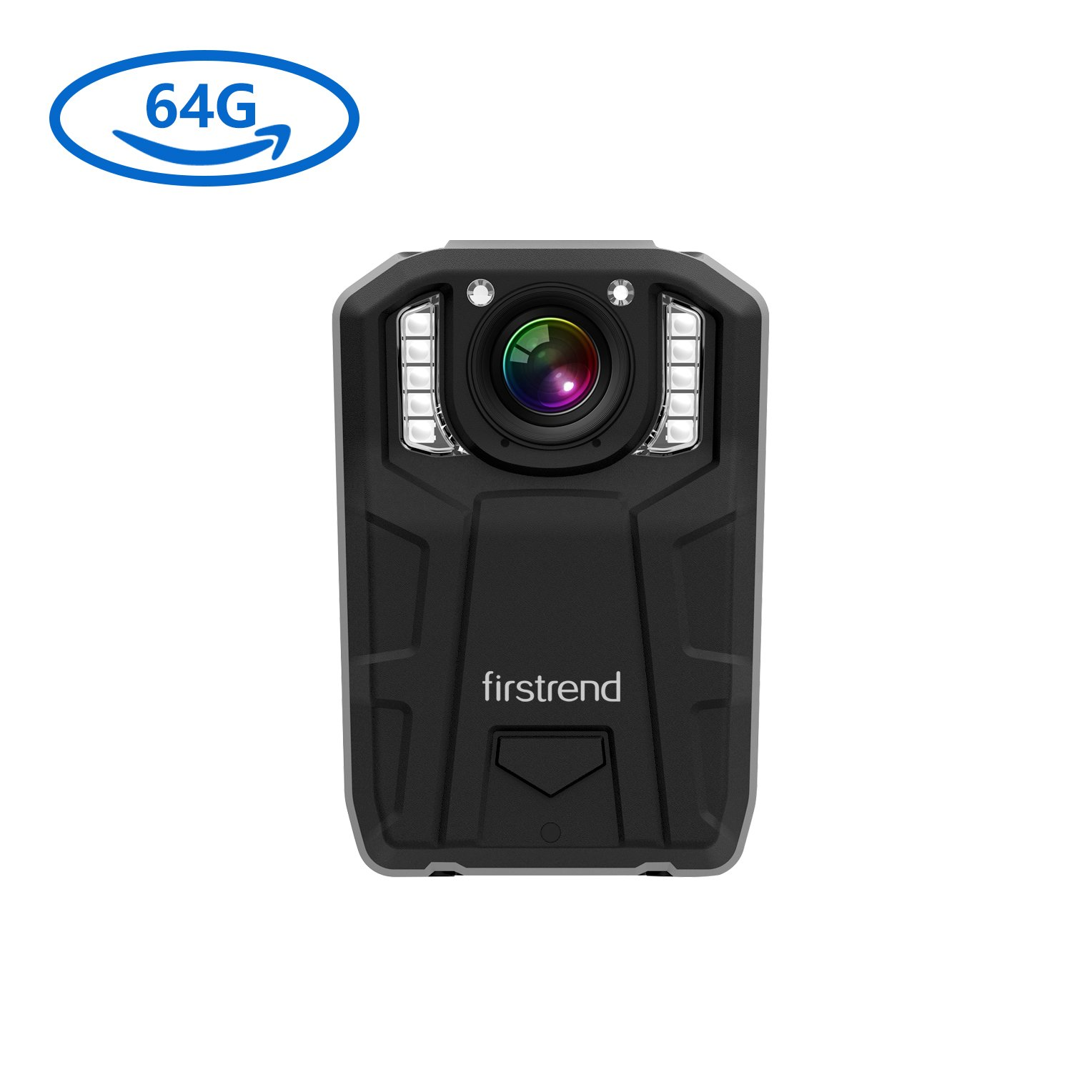 [Newest] Firstrend 1296P HD Body Camera, 6000mAh High Capacity Police Body Camera with 64GB Memory, Night Vision and IP67 Weatherproof