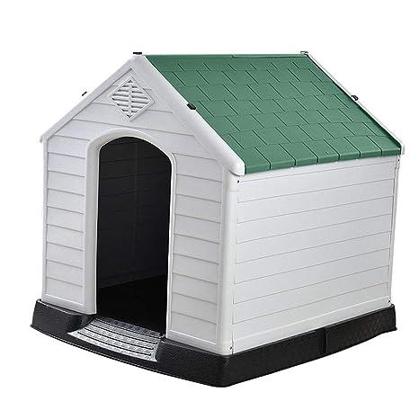 Cama de perro Perrera de plástico para perros, a prueba de viento lavable, resistente