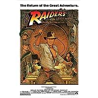 """Indiana Jones - Raiders Of The Lost Ark - Póster de la película (Relanzamiento de 1982) (Tamaño: 24 """"x 36"""")"""