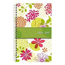 Brownline 2017 Daily Academic Planner, Aug-July, Poly Cover, 8 x 5 inches,  Blossom (CA201PS.ASX-17)