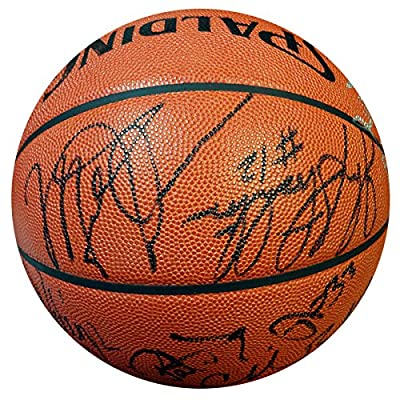 1992 Dream Team USA Team Signed Autographed NBA Basketball With 12 Signatures Including Michael Jordan, Larry Bird, Magic Johnson & Charles Barkley PSA/DNA #Z05268