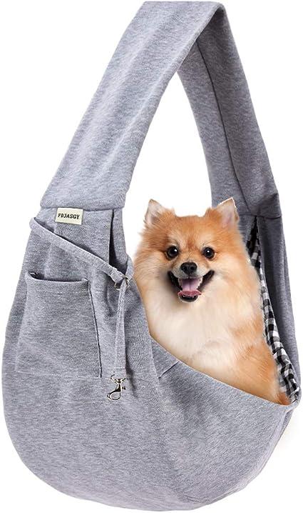 BOENTA Puppy Sling Carrier Pet Carrier Dog Travel Carrier Pet Carriers For Cats Portable Pet Carrier Dog Travel Bag Adjustable Dog Backpack 175-blue