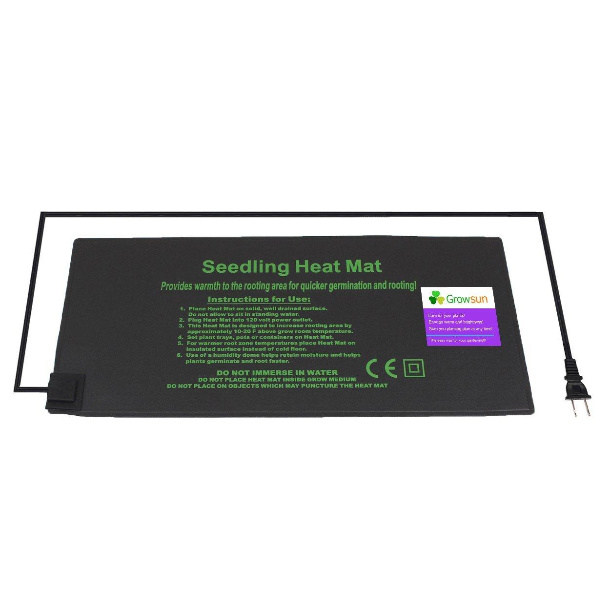 Growsun 9'' X 20'' Seedling Heat Mat Hydroponic Heating Pad