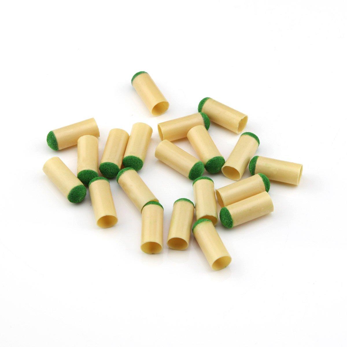 10 mm Plastic hipoxemia piscina taco de billar consejos 20 unidades Owfeel(TM)