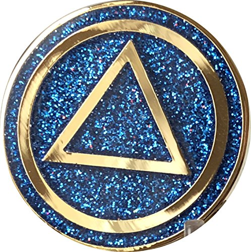AA Circle Triangle Logo Reflex Blue Glitter Gold Plated - Reflex Triangle