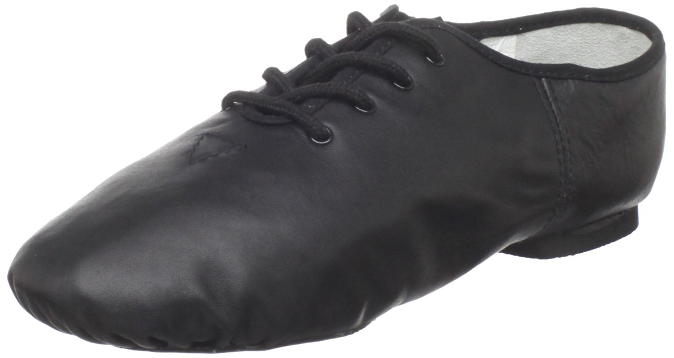Dance Class Women's J103 Split Sole Jazz Shoe,Black,12.5 M US