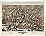 Historic Map | Glens Falls, N.Y : 1875 | Antique Vintage Reproduction