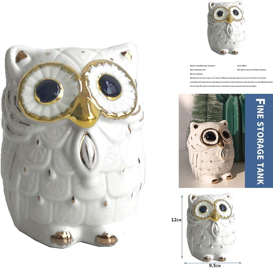 Saving Piggy Bank Money Box Jar for Kids /& Adults UNISOPH Ceramic Coin Bank Owl Shape