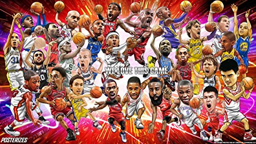 LeBron James Basketball Player Sportsman 12 x 18 Inch Quoted Multicolour Rolled Poster