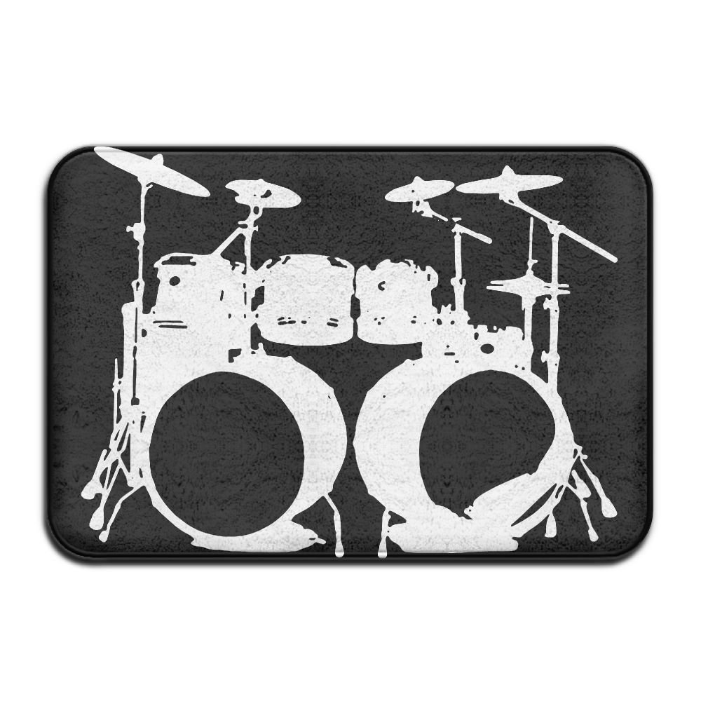 """EWD8EQ Drumms Drummer Non-slip Indoor/Outdoor Floor Mat For Health And Wellness Kitchen Hallway Bath Office Bathroom Doormat 23.6""""x 15.7"""""""