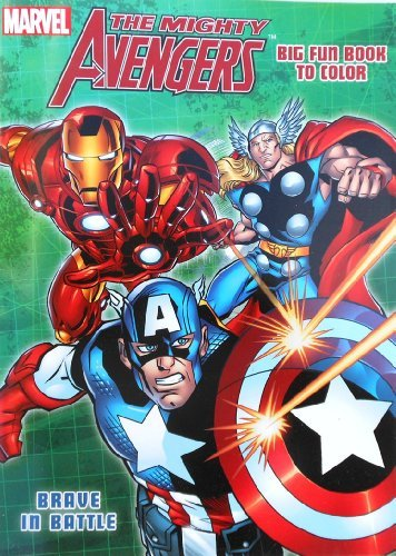 Marvel The Mighty Avengers Coloring Book with Captain America, Hulk and Thor