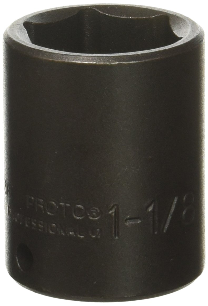 Stanley J7436H Proto 6 Point 1/2-Inch Drive Impact Socket, 1-1/8-Inch Stanley Proto J7436H 6 Point 1/2 Drive Impact Socket 1-1/8