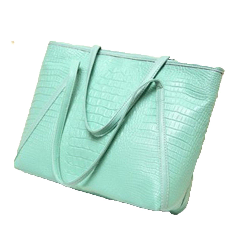 2a05df81d17 brand 2018 new fashion casual glossy large capacity ladies simple shopping  handbag PU leather shoulder bags  Handbags  Amazon.com