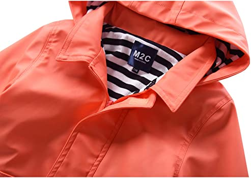 Children Kids Raincoat Jacket Red Towel Lined Size 3-4