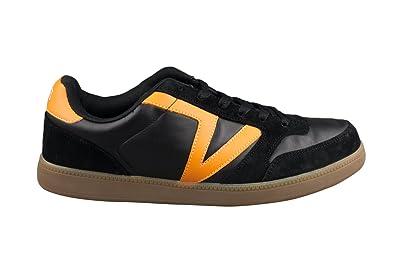 47146baa76bd7e Vans Mens Leather Black Orange Jumma Skate Shoes Trainers  Amazon.co ...