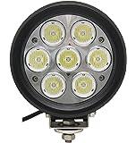LEDサーチライト ポーペ(POOPE) 70W LED作業灯 CREE 船舶用 丸型 広角LEDワークライト 屋外作業 トラック 車外灯 12V~24V対応 高品質 防水防塵【一年保証】