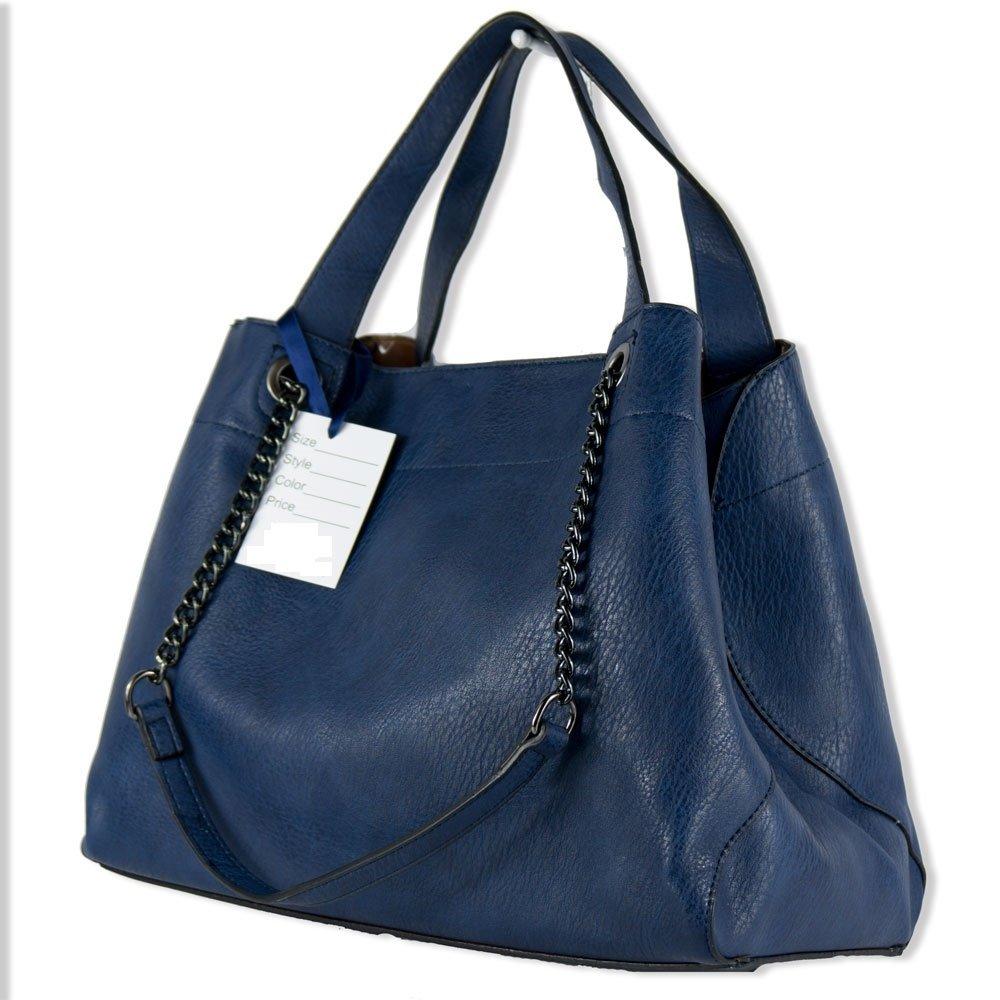 a spalla cuoio Borsa bag capiente grande nera tipo hobo donna 4wxBtqpE c2e8b3807fe