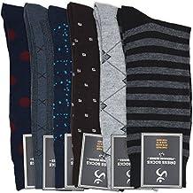 ACTIV PRO Men's Classic Ribbed Dress Socks (6 Pairs)