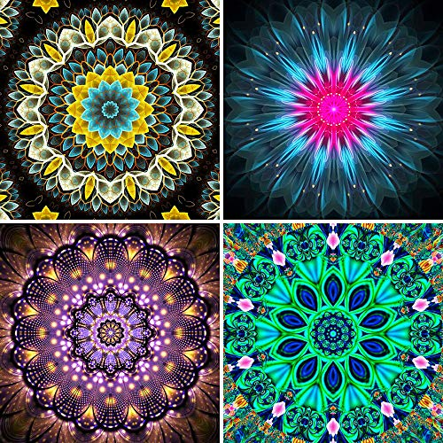 - UPINS 4 Pack 5D DIY Diamond Painting Set,Flower Painting(30X30CM/12X12inch)