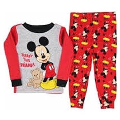 ae51685ac4 AME Sleepwear Disney Baby Boys  Mickey Mouse Sleepy Time Friends 2 Piece  Pajama Sleepwear 9M